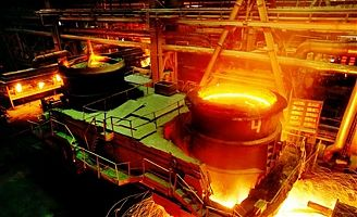 Pig iron making plant operating under Romelt process